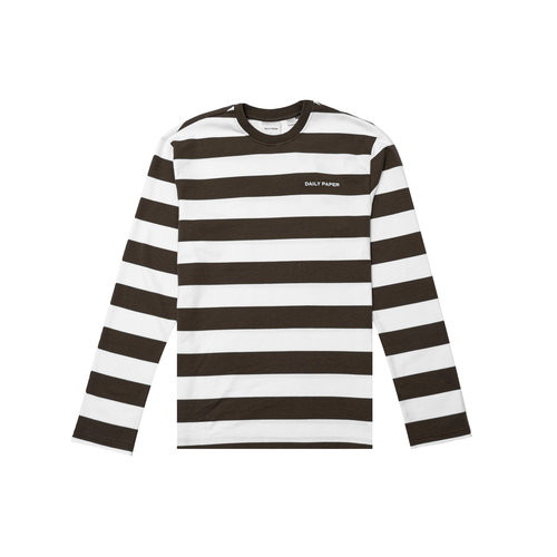 Pith Stripe LS Forest Brown White 2021105 22