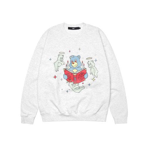 Rebirth Bear Sweatshirt Light Heather Gray LMC2031