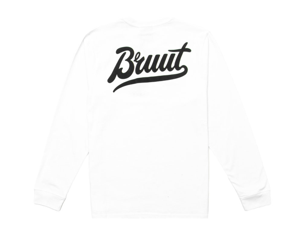 Bruut Essential Longsleeve White BT1000 011