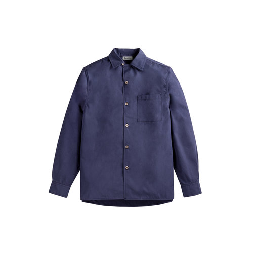 Bowling LS Shirt Cotton Poplin Work Blue S0030