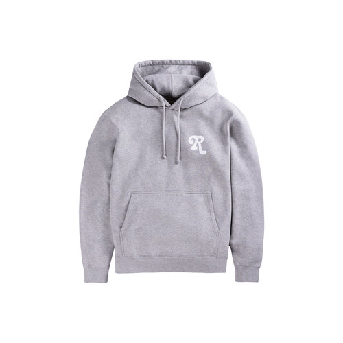 Cotton Brush Fleece Hoodie Melange Grey CP0001
