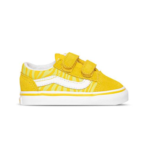 Old Skool V Neon Animal Zebra Yellow TD VN0A38JN33Z1