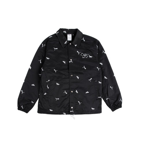 x Maison Kitsune AOP Coach Jacket Black 531064 01