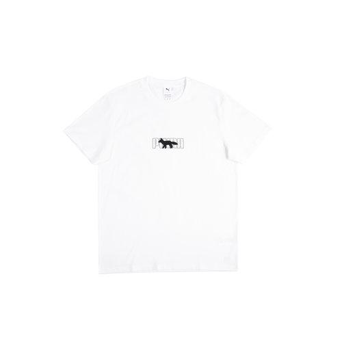 x Maison Kitsune Oversized Tee White Puma White 530434 02