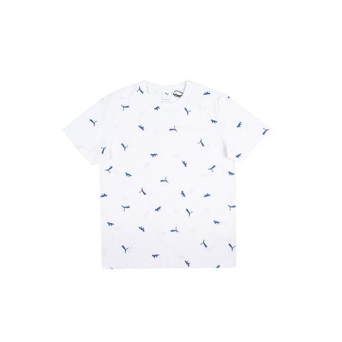 x Maison Kitsune AOP Tee Puma White 530429 78