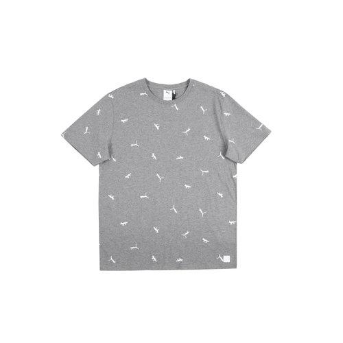 x Maison Kitsune AOP Tee Puma Grey 530436 03