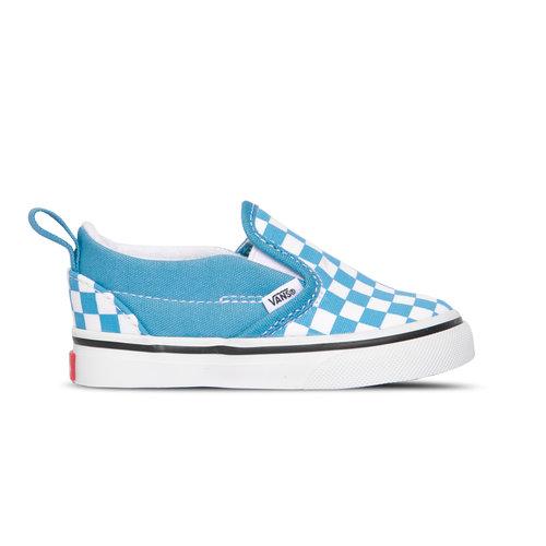 Slip On V Checkerboard Delphinium Blue True White VN0A348830Y1