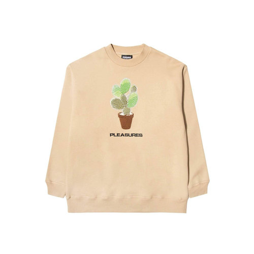 Spike Embroidered Crewneck Tan P21SP007T