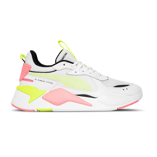 RS X 90s White Yellow Alert Ignite Pink 370716 06