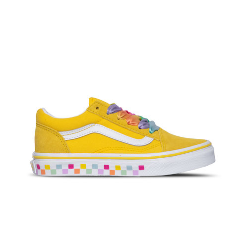 Old Skool Rainbow Lace Cyber Yellow True White VN0A4BUU32X1