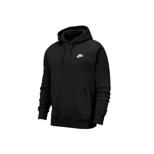 NSW Club Fleece Hoodie Black White BV2654 010