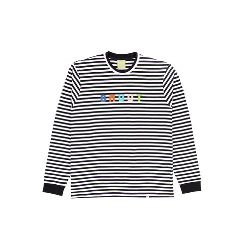Stripe Longsleeve Black White BT1040 001