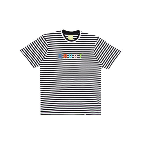 Stripe Tee Black White BT1040 002