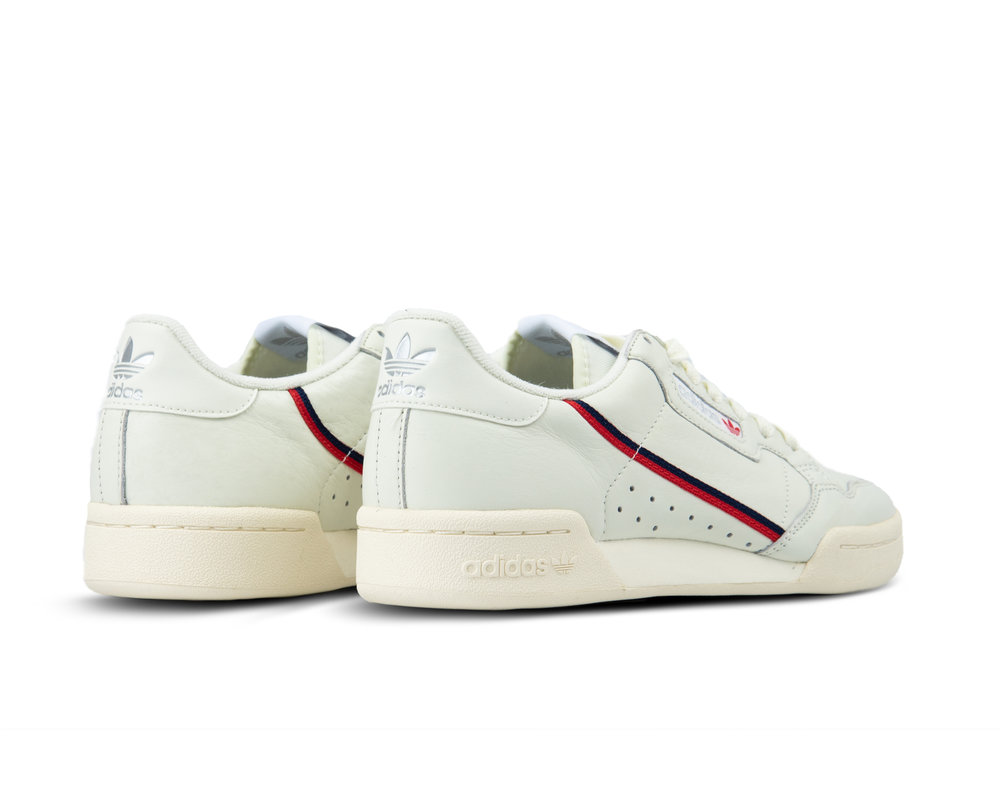 Adidas Continental 80 White Tint Off White Scarlet B41680