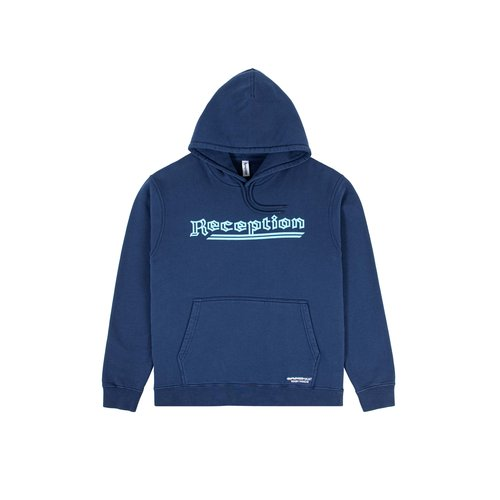 Cotton Brush Sweat Hoodie Work Blue F0049