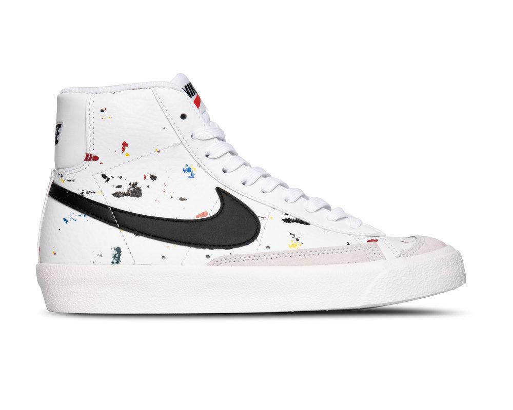 Nike Blazer Mid '77 BB GS White Black Sail DJ2618 100