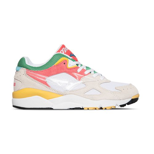 Sky Medal  Suede Mesh Multi Color Creme Red Green Yellow D1GA201063