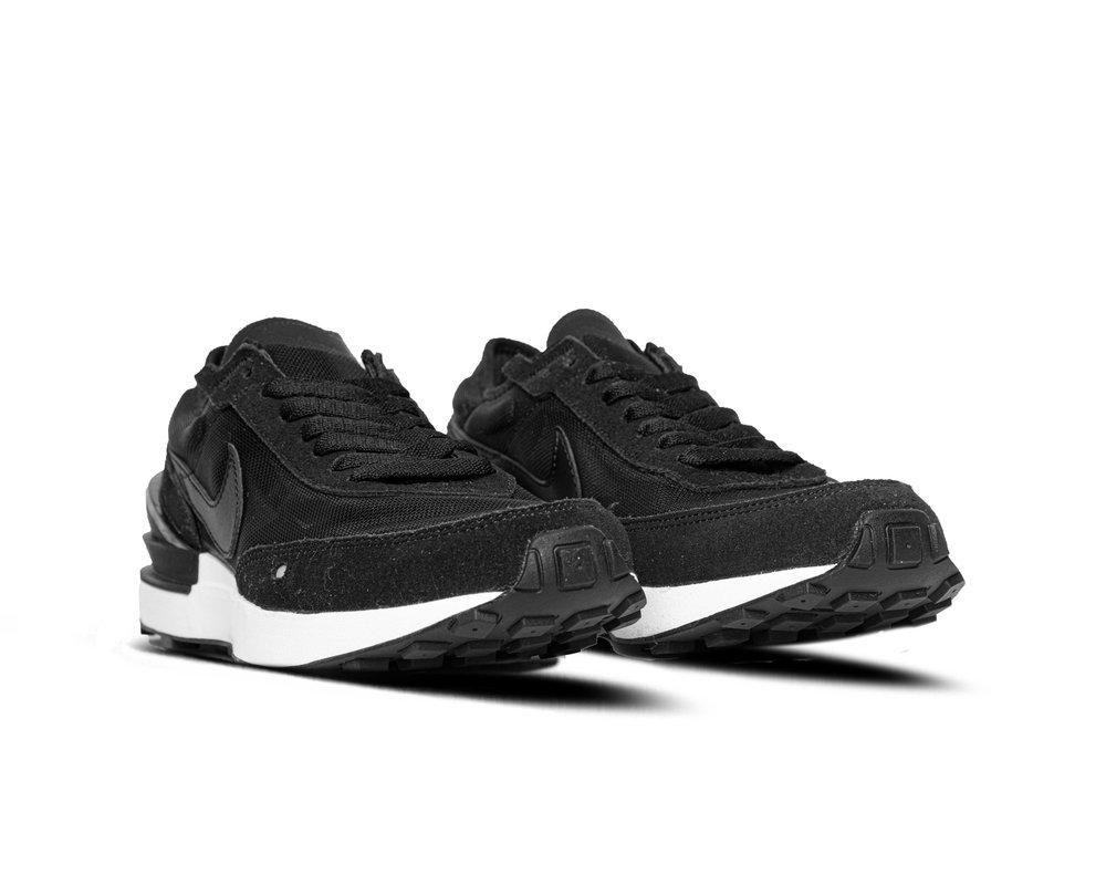 Nike Waffle One GS Black White Orange DC0491 001