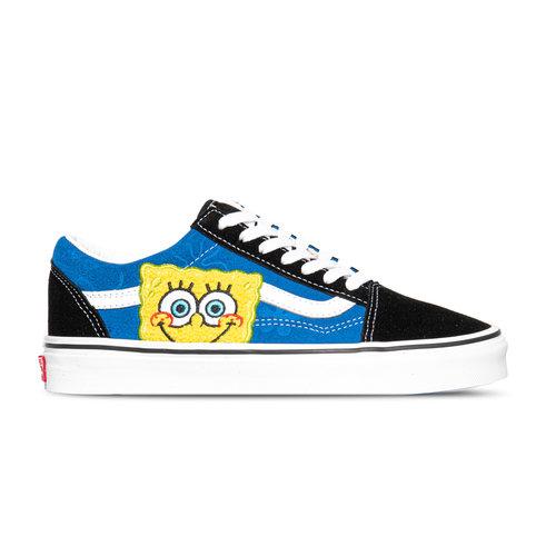 x Spongebob Old Skool Black Blue VN0A38G19XD1
