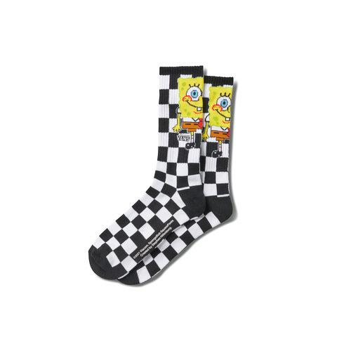X Spongebob Crew Sock Checkerboard VN0A5KC8Q7Y1