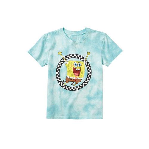 x Spongebob Tie Dye Jump Out Crew Tee Blue VN0A5I3AYZM1