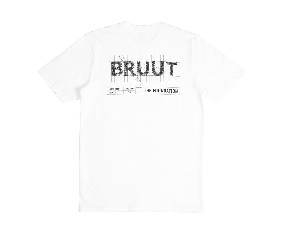 Bruut Blueprint Tee White BL1020 01
