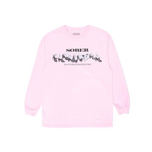 Sober Longsleeve Tee Pink P21SU045B