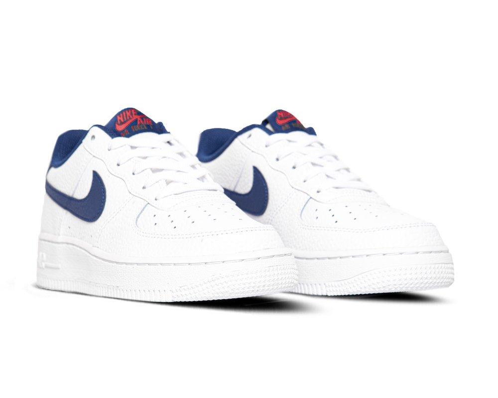 Nike Air Force 1 GS White Deep Royal Blue University Red CT3839 101