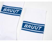 Bruut Retro Sock White Lapis Blue BT024