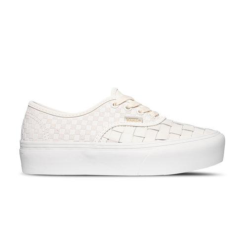 Authentic Platform Woven Leather Blanc de Blanc VN0A5KXA9GY1