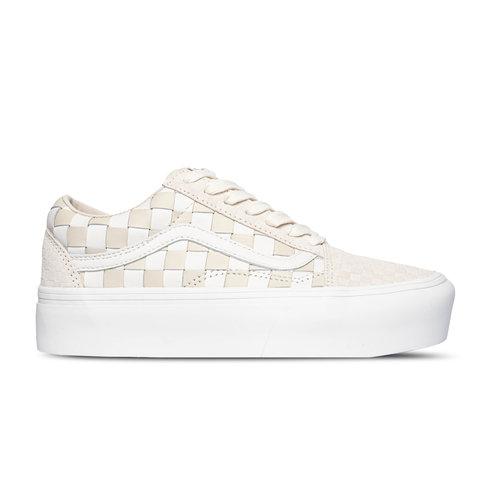 Old Skool Platform Woven Leather Blanc de Blanc VN0A5KX99GY1