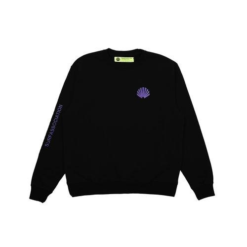 Logo Crewneck Sweat AW21 Black Prism Violet 2021244