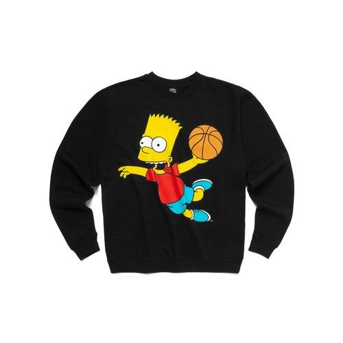 X The Simpsons Air Bart Crewneck Sweatshirt Black CTM1960082 0001
