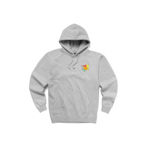X The Simpsons Market Devil Arc Hoodie Ash Gray CTM1970066 0001