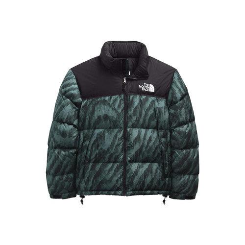 Multi Print Nuptse Jacket  Balsam Green Wooden Tiger Print NF0A5IX429LS
