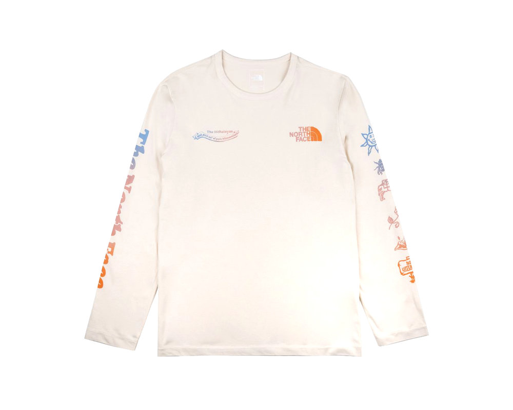 The North Face Himalayan Bottle Source Longsleeve Vintage White NF0A532K11P