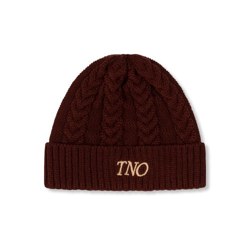 Cable Knit Beanie Chocolate TNO116