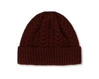 The New Originals Cable Knit Beanie Chocolate TNO116