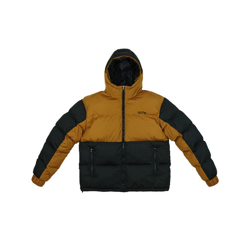 Joey Double Puffer Jacket Brown Black AW21 096J