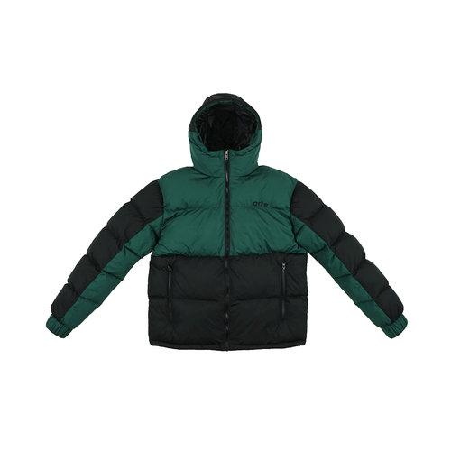 Joey Double Puffer Jacket Green Black AW21 096J