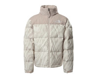The North Face Nuptse Jacket Silver Grey Wooden Print NF0A5IX42L01