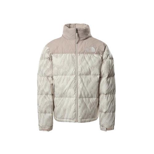 Nuptse Jacket Silver Grey Wooden Print NF0A5IX42L01