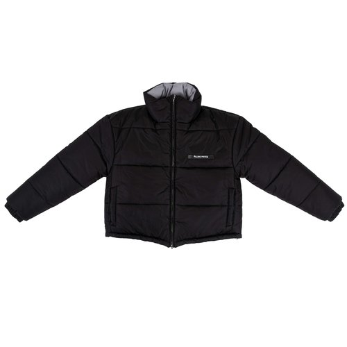 Female Puffer Jacket Reversable Black Grey 982220 1786
