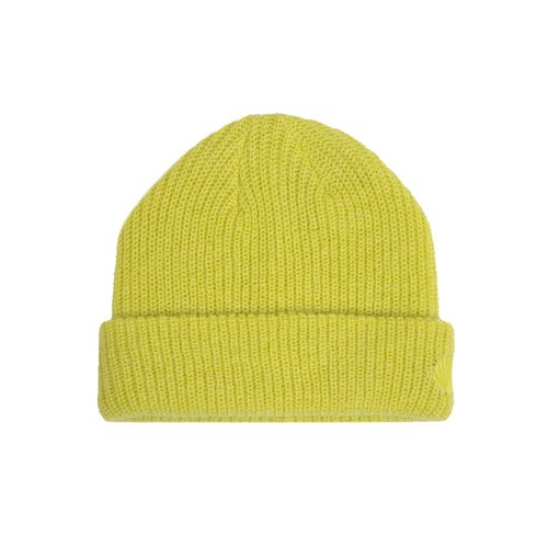 Hairy Knitted Beanie Lime Punch 2021327