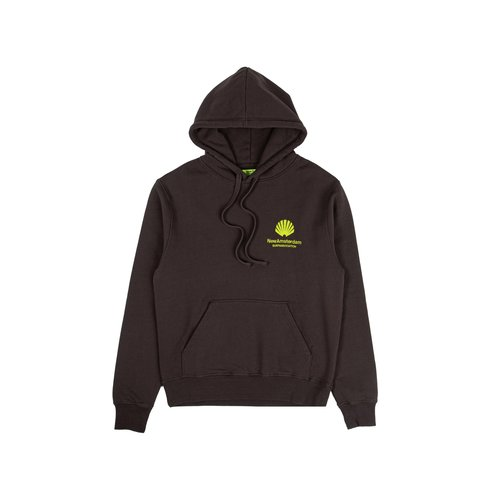 Logo Hoodie Chocolate Lime