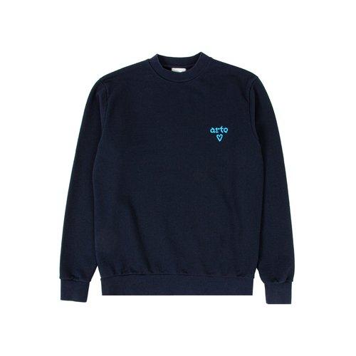 Cassat Heart Logo Sweater Navy AW21 084C