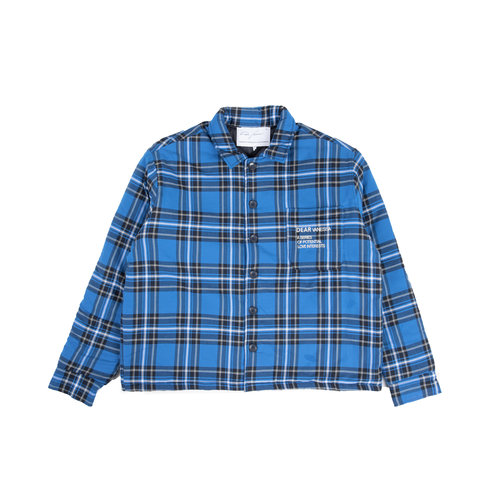 Woody Padded Overshirt Blue Yellow Checked AW2021023