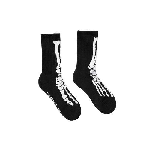 Skull Sock Black White BT032