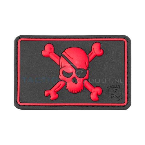 Jackets to Go Pirate Skull PVC Patch Zwart