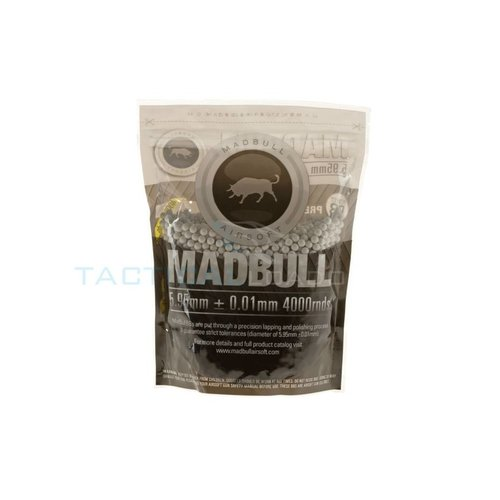 MadBull 0.20 gram Bio BB's (4000 rounds) Wit - SALE